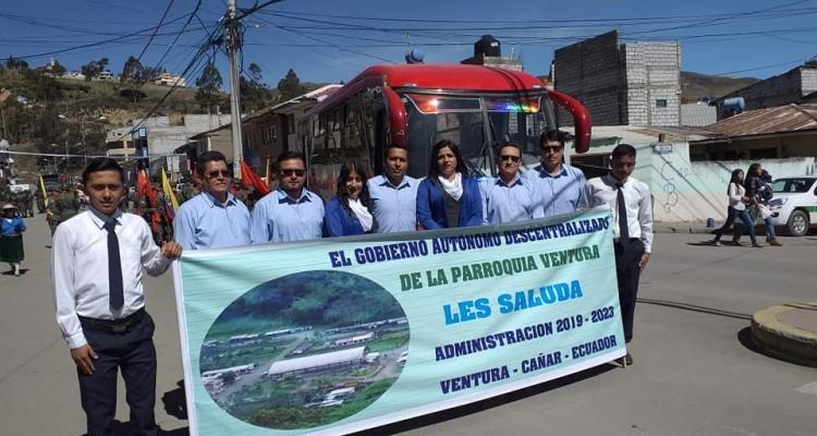 GOBIERNO PARROQUIAL DE VENTURA PRESENTE EN LOS 195 AÑOS DE CANTONIZACION DE CAÑAR.